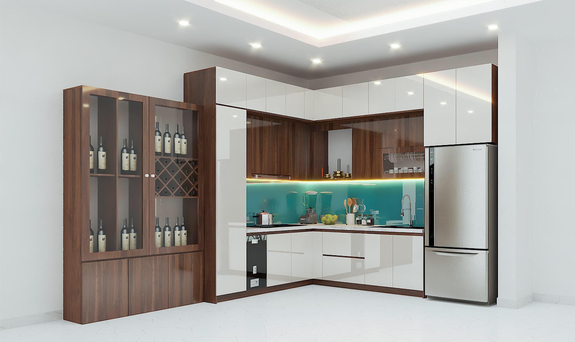 mẫu tủ bếp acrylic đẹp tại Đà Nẵng